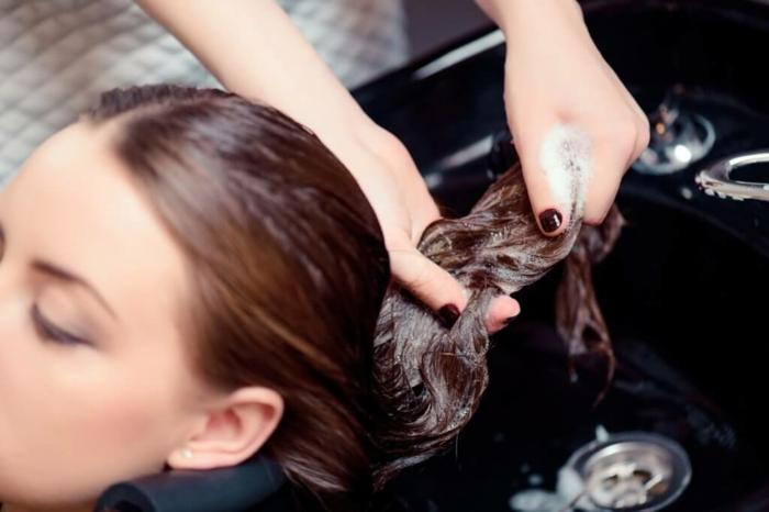 laver les cheveux soin kératine