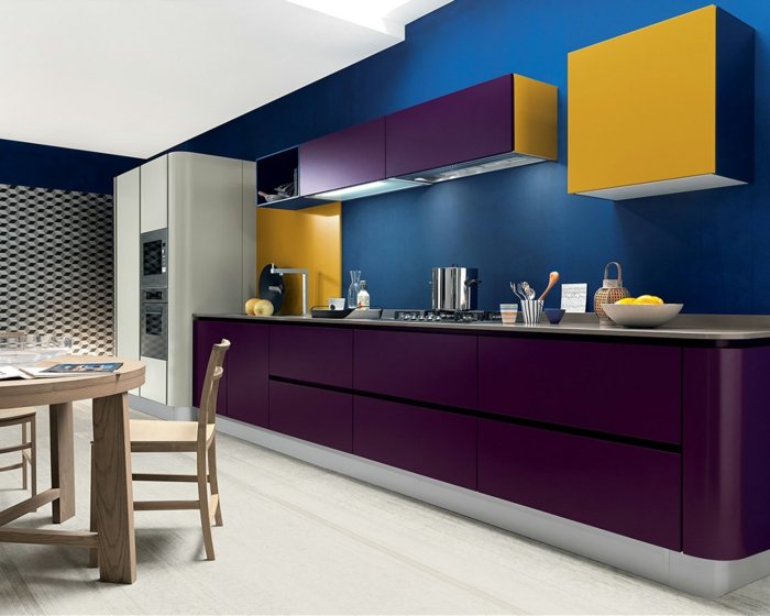 mur couleur classic bleu cuisine bleu classique