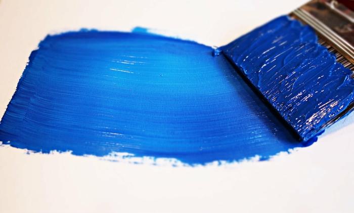 peinture murale cuisine bleu classique