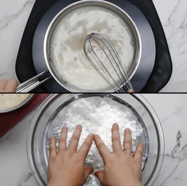 préparer gâteau galaxie au glaçage miroir tremper la gélatine