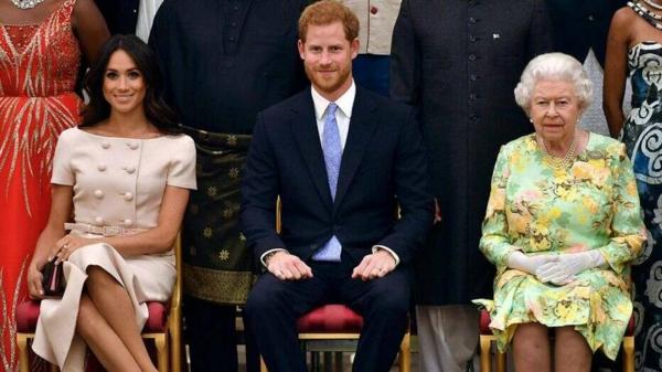 prince harry meghan markle et la reine élisabeth
