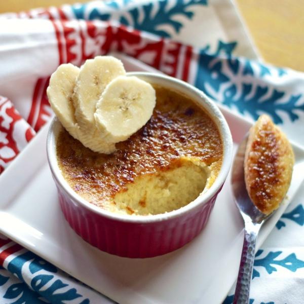 recette crème brûlée à la banane