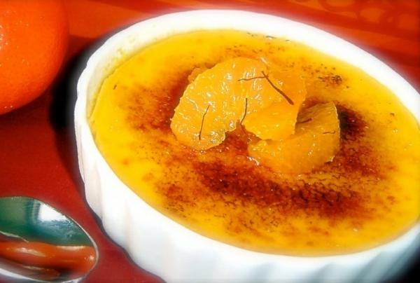 recette crème brûlée à la mandarine