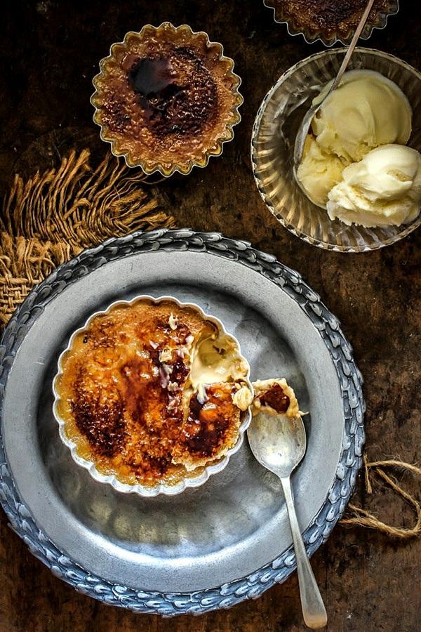 recette crème brûlée au café et caramel