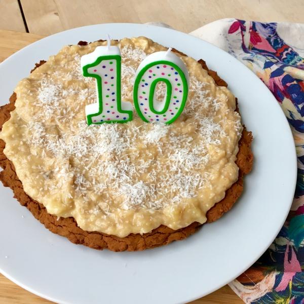 recette gâteau d'anniversaire pour chien banane et citrouille