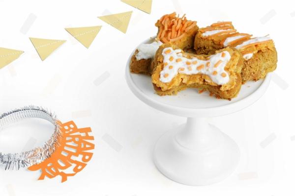 recette gâteau d'anniversaire pour chien patates douces carottes