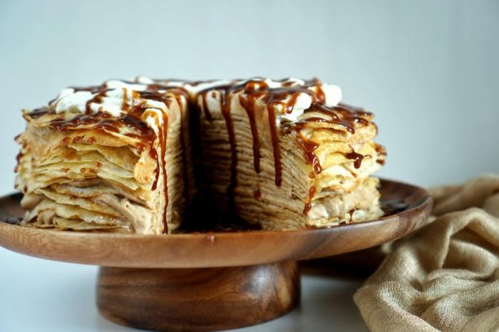 recette gâteau de crêpes au caramel salé