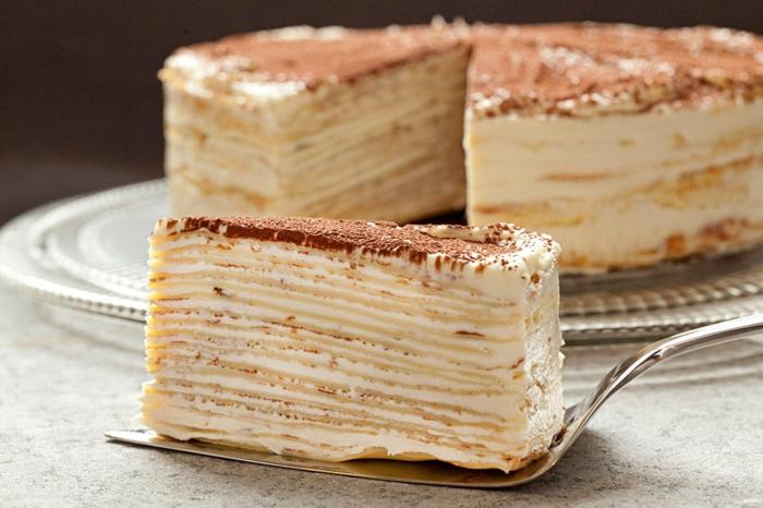 recette gâteau de crêpes façon tiramisu