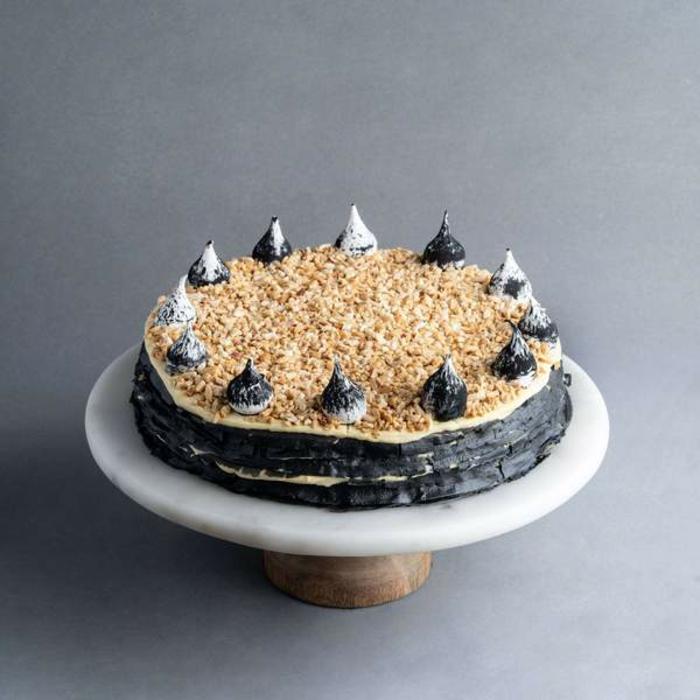 recette gâteau de crêpes noir avec poudre de charbon végétal