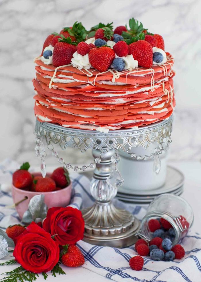 red velvet recette gâteau crêpes