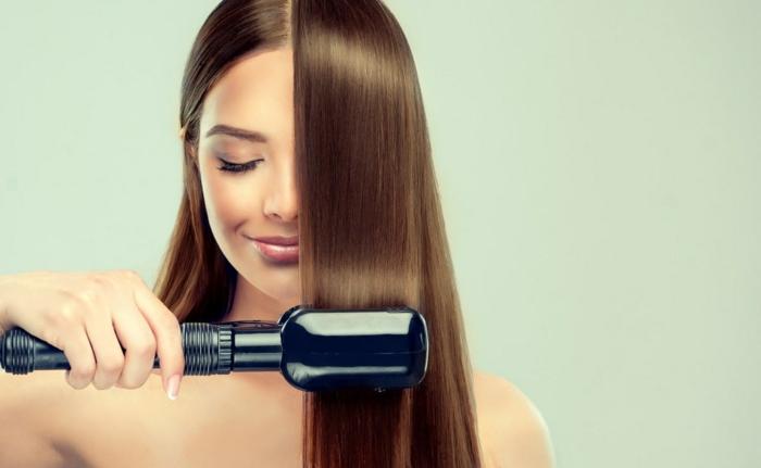 soin kératine cheveux lisses et brillants