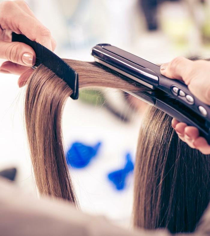 soin kératine cheveux lisses