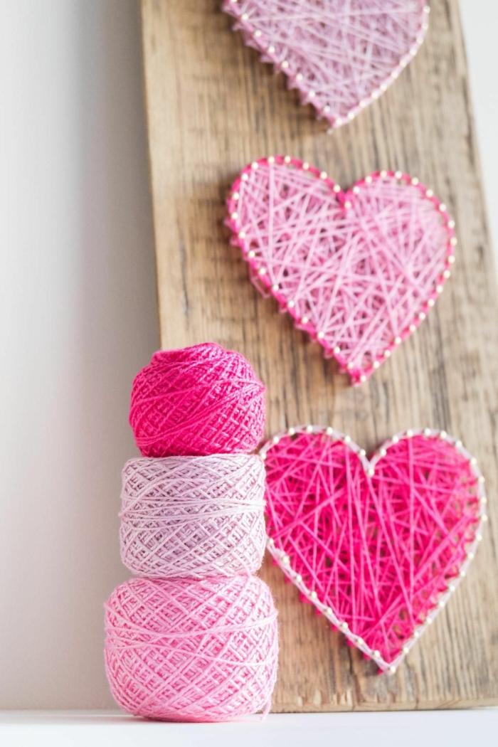 string art coeur déco chambre romantique