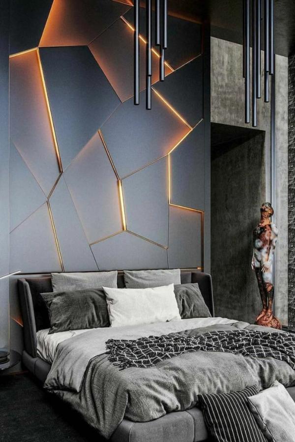 tendances chambre 2020 couleurs neutres éclairage moderne