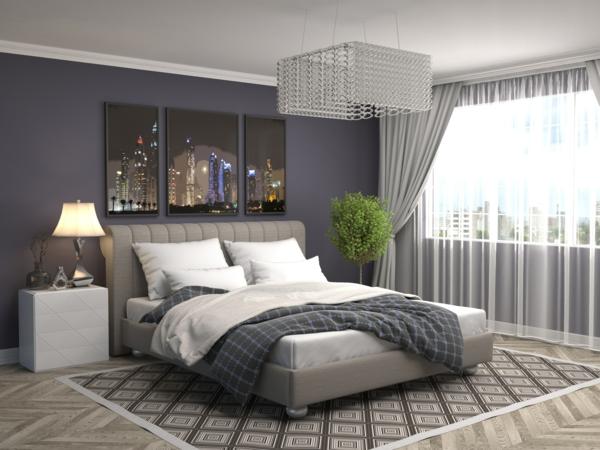 tendances chambre 2020 couleurs neutres verdure lustre design
