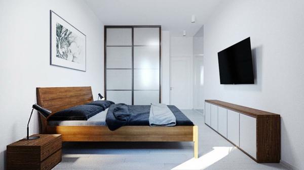 tendances chambre 2020 mobilier en bois massif murs blancs