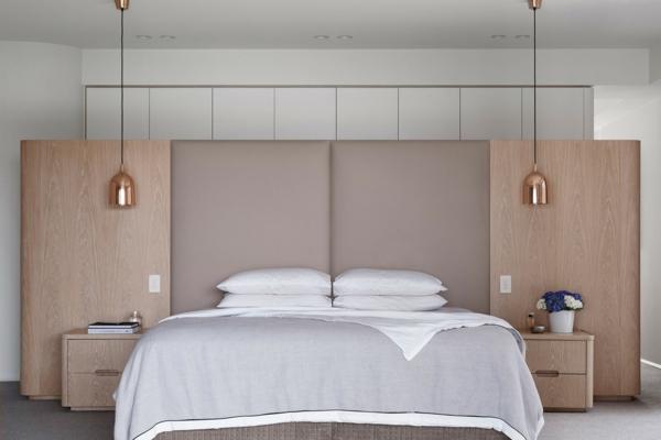 tendances chambre 2020 mobilier en bois massif tête de lit rembourré