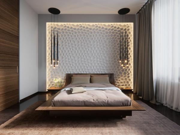 tendances chambre 2020 mobilier en bois matières de linge de lit lin et coton