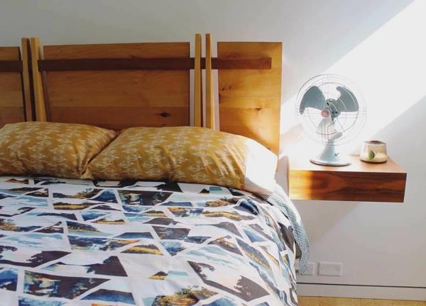 tendances chambre 2020 peinture murale blanche tête de lit design