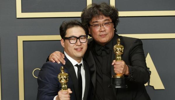 Bong Joon Ho et Han Jin Won Oscars 2020