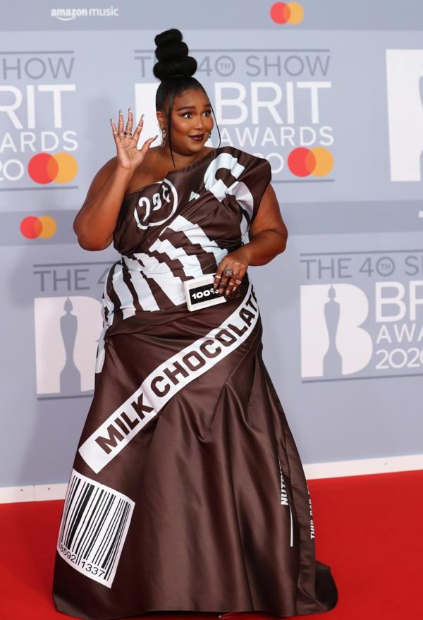 Brit Awards 2020 tapis rouge Lizzo