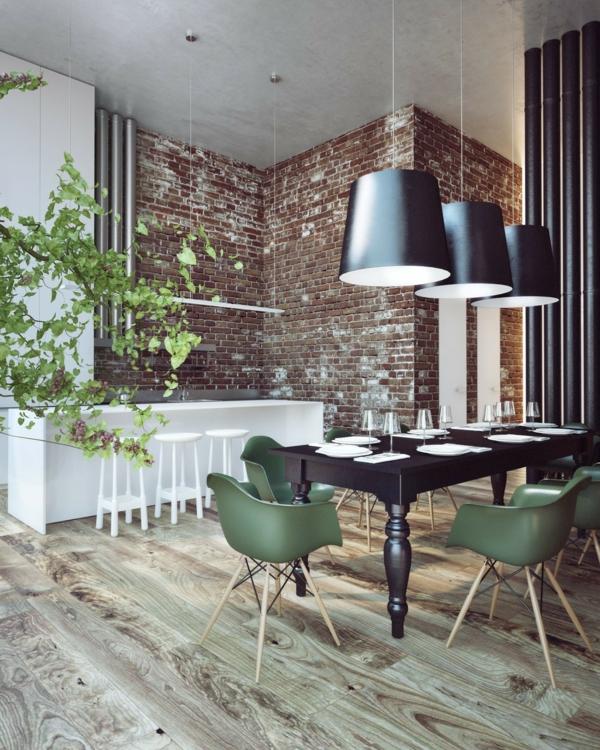 Tendances salle à manger 2020 chaises vert naturel