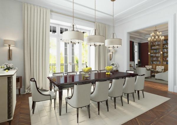 Tendances salle à manger 2020 couleur prépondérante blanc crème