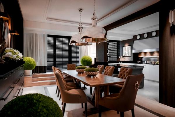 Tendances salle à manger 2020 luminaires industriels déco verdure