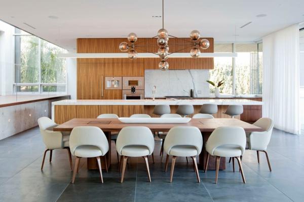Tendances salle à manger 2020 mobilier en bois luminaire industriel