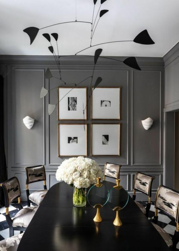 Tendances salle à manger 2020 peinture grise