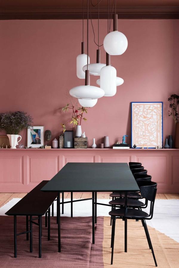 Tendances salle à manger 2020 peinture rose pastel
