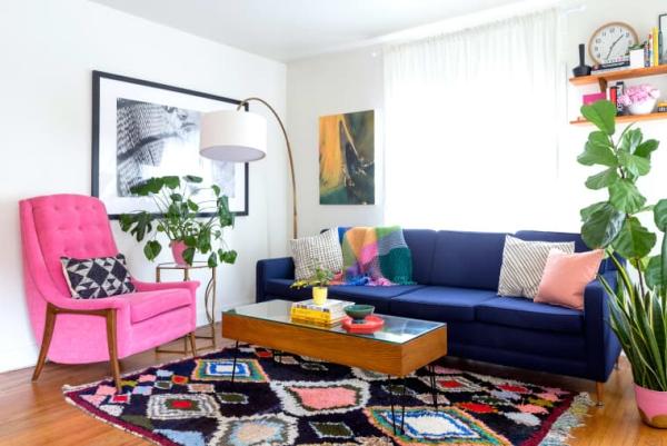 déco petit appartement accents de couleurs