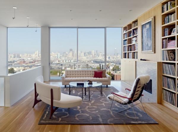 déco petit appartement des meubles courbés
