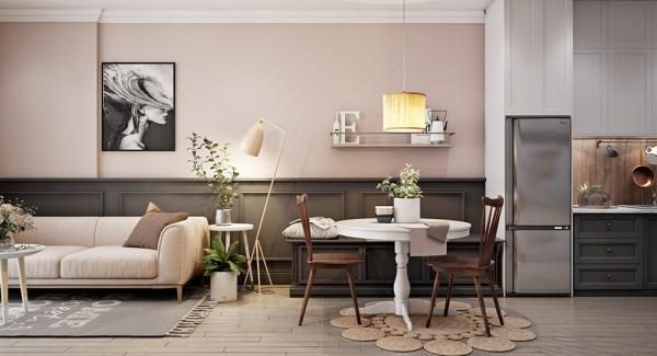 déco petit appartement tables rondes