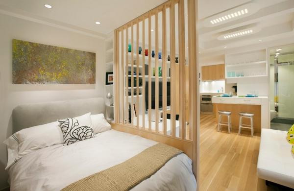 déco petit appartement une grille en bois