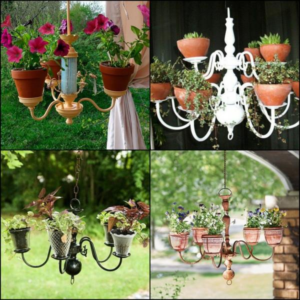 fabriquer une jardinière originale à partir d'un ancien lustre idées de modèles
