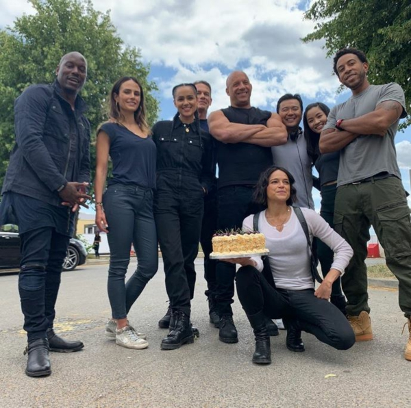 fast and furious 9 les acteurs pendant le tournage