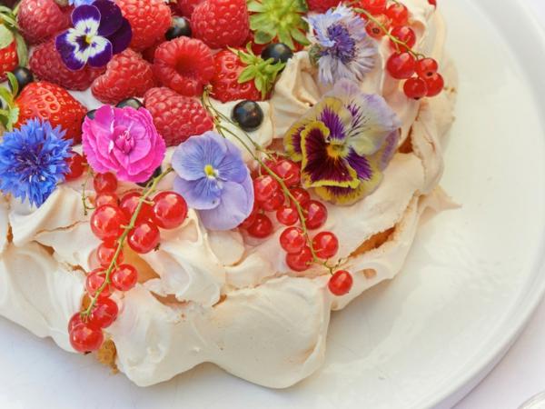 fleurs comestibles pour garnir des desserts