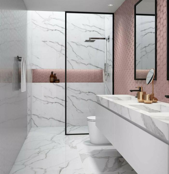 home staging salle de bain carrelage addhésif marbre