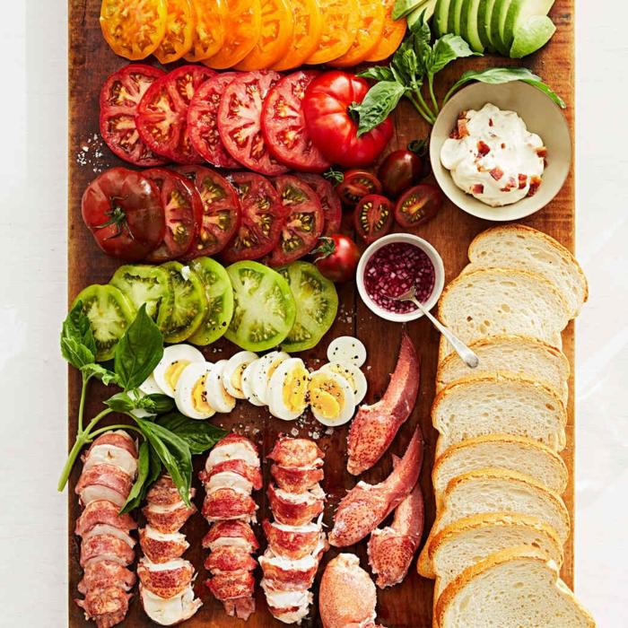 idée pour la table festive de brunch de pâques
