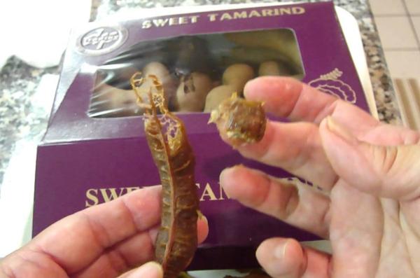 le fruit tamarin état sucré