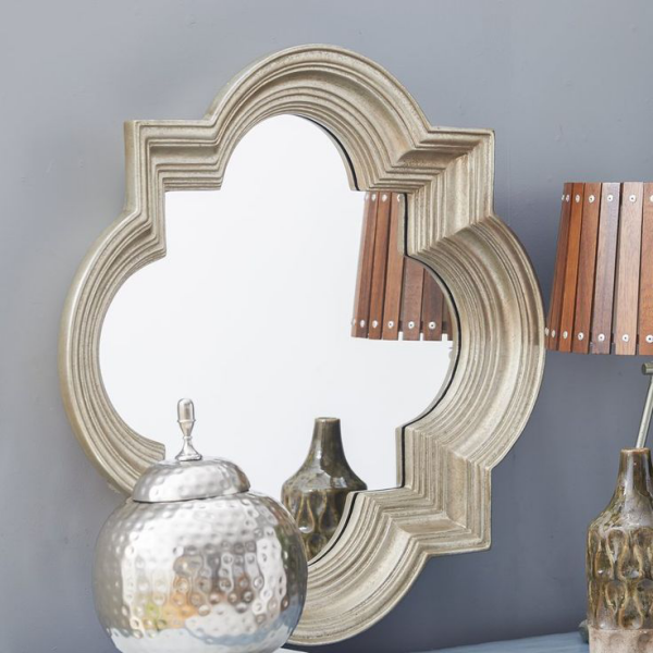 miroir décoratif mural cadre concave