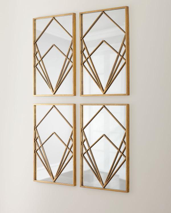 miroir décoratif mural carrés et losanges