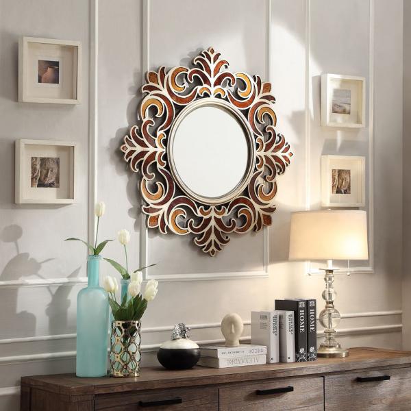 miroir décoratif mural comme pétales
