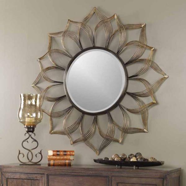 miroir décoratif mural comme une grande fleur