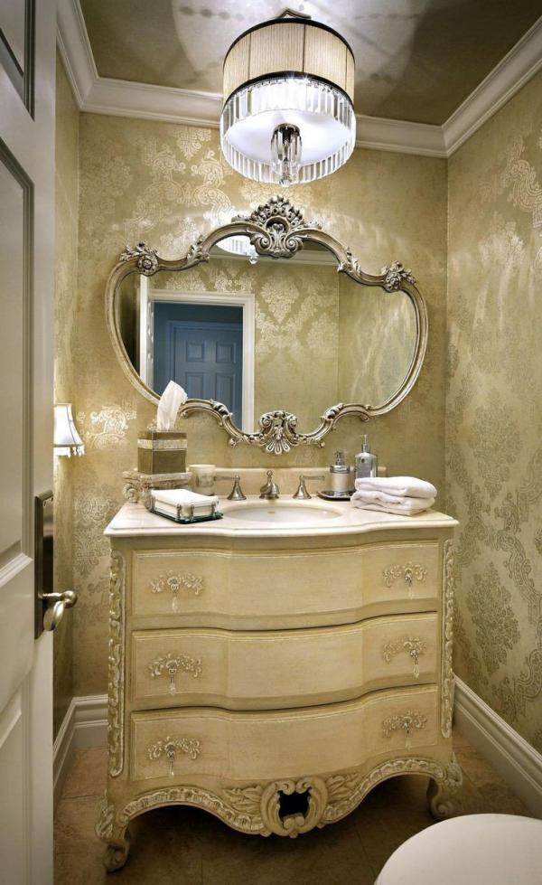miroir décoratif mural en couleur crème
