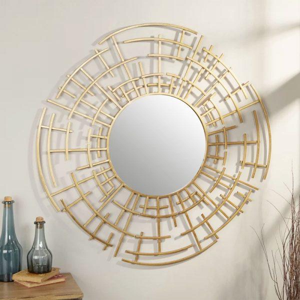 miroir décoratif mural en or oriental