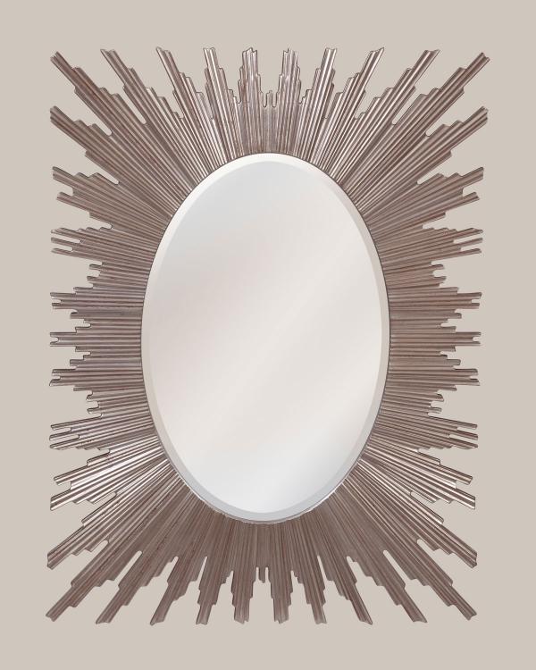 miroir décoratif mural forme ovoïde