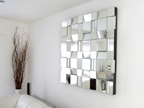 miroir décoratif mural fragmentant les images