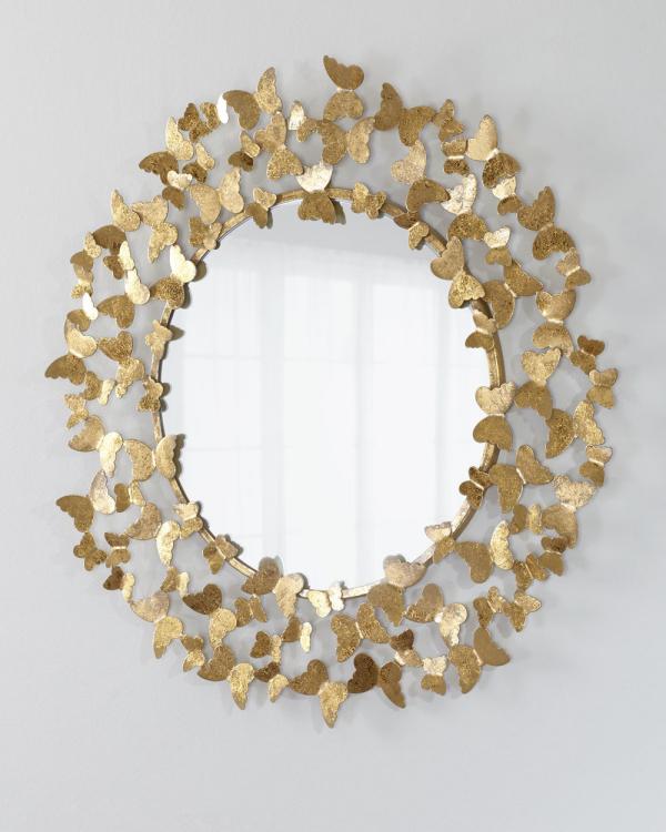 miroir décoratif mural miroir-papillon